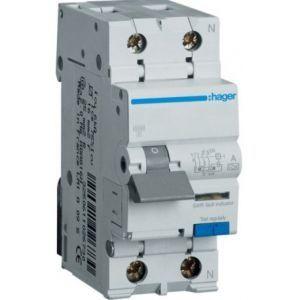Дифференциальный автомат 1+N, 10A, 300mA, х-ка C, 6кА, тип A HAGER, AF960J