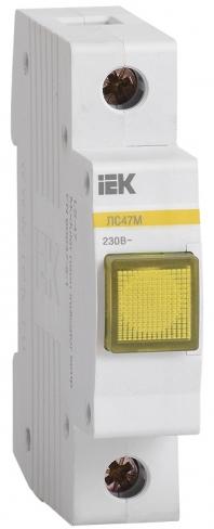 Сигнальная лампа ЛС-47М со светодиодной матрицей желтая, IEK