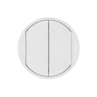 Лицевая панель для выключателя 2-кл., цвет белый, Legrand Celiane
