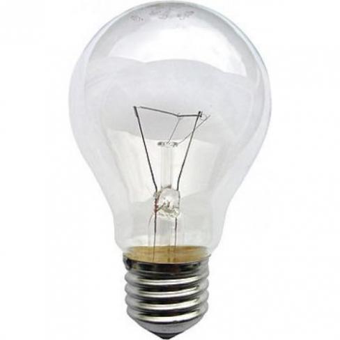 Лампа ЛОН 150 Вт, цоколь Е27, прозрачная
