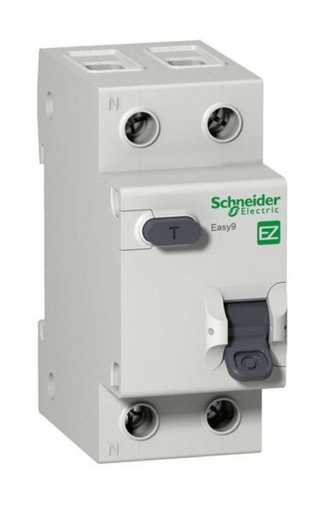 Дифференциальный автомат Easy9 1+N, 25A, 30mA, х-ка С, 4.5кА, тип AC, Schneider Electric, EZ9D34625