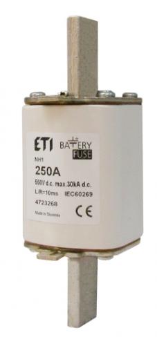 Предохранитель NH-1_K  Battery   63A 550V DC (с бойком), 4723281, ETI
