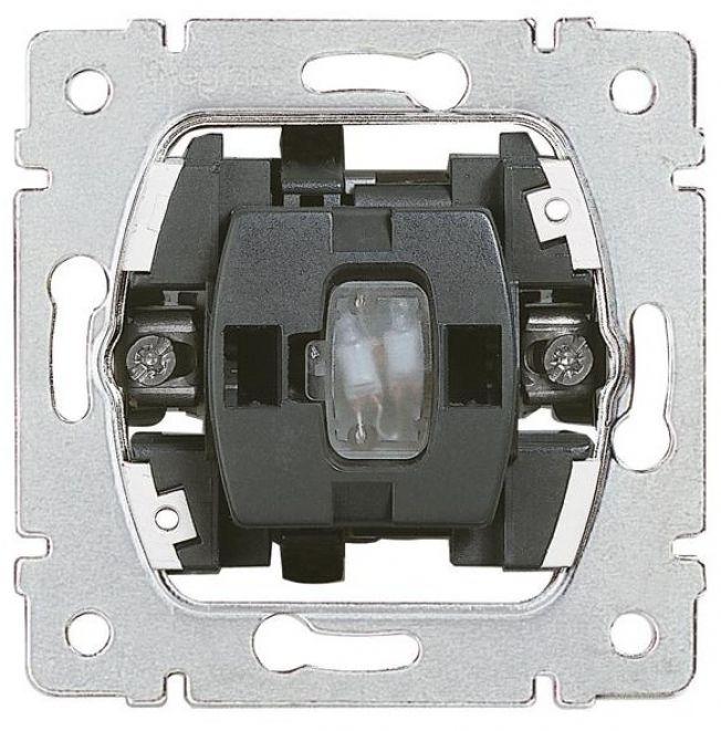 Механизм переключатель на 2 направления с подсветкой 10А (проходной или лестничный) Legrand Galea Life 775602