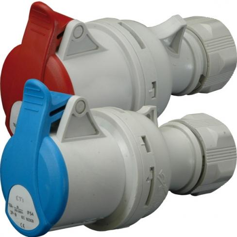 Розетка кабельная ES-1632 IP44 (16A, 230V, 2P+PE), 4482000, ETI