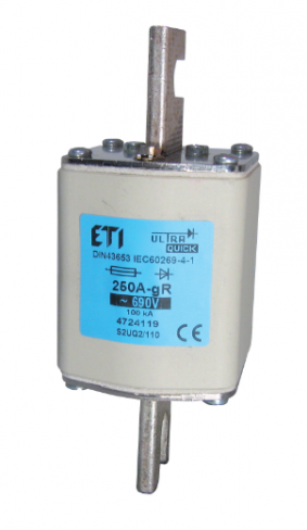 Предохранитель  S3UQ2/110/250A/690V gR (200kA), 4725119, ETI