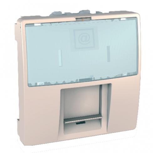 Механизм розетки RJ45 UTP 8к. кат. 5е, 2м., слоновая кость, Schneider Electric, Unica