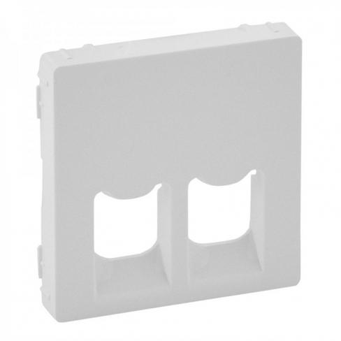 Лицевая панель для RJ11+RJ45, цвет белый, Legrand, Valena Life