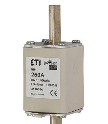Предохранитель NH-1C  Battery  125A 80V DC, 4110093, ETI