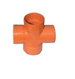 Крестообразное соединение под 90° для дренажных труб, д.125мм 22125, DKC