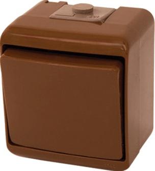 Выключатель 1-клавишный (коричневый) (IP54) VHE-1-KR 4668040