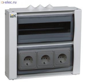 Корпус металлический ЩРн-12р-1 38 «LIGHT», IEK