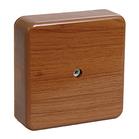 Коробка КМ41206-05 распаечная для о/п 50х50х20мм дуб