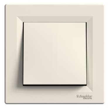 Механизм кнопки 1-клавишной, цвет белый, Asfora, Schneider Electric