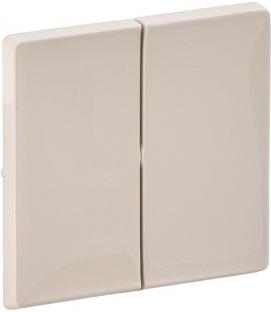 Лицевая панель для кнопки 2-клавишной, цвет слоновая кость, Legrand, Valena Life