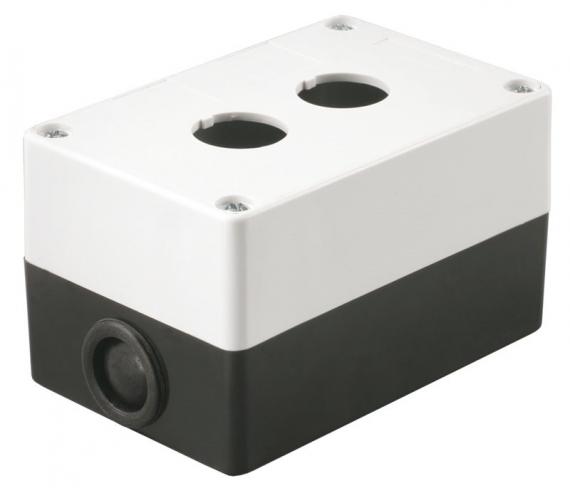 Корпус КП102 для кнопок 2 места белый IEK BKP10-2-K01