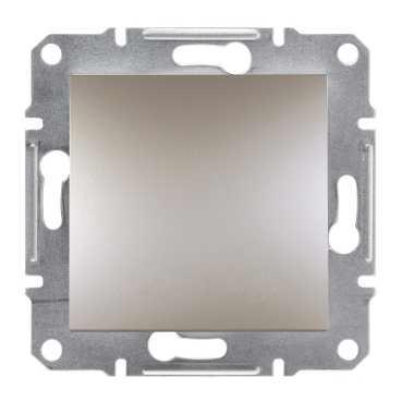 Механизм выключателя 1-клавишного, цвет бронза, Asfora, Schneider Electric