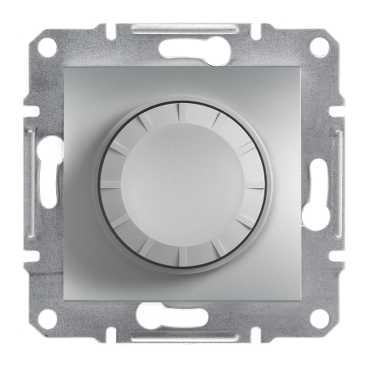 Механизм, светорегулятор, 315 Вт, цвет алюминий, Asfora, Schneider Electric