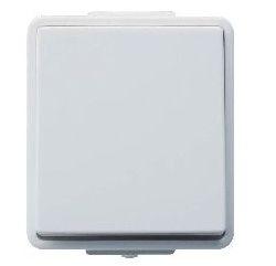 Выключатель 2-полюсный серый 10А/230В IP44 Hager Hermetica