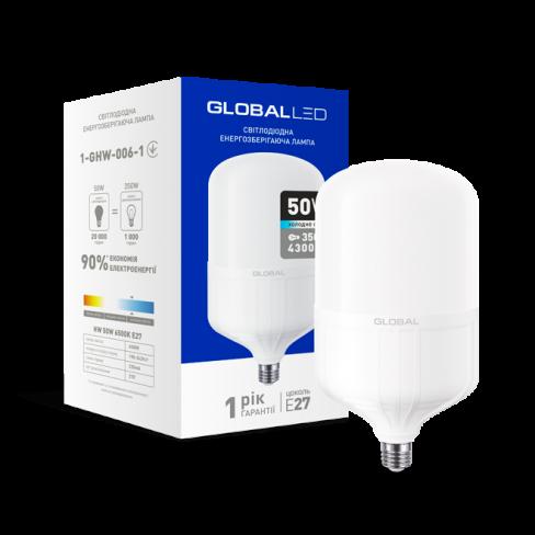Высокомощная лампа LED лампа HW GLOBAL 50W 6500K E27 (1-GHW-006-1) (NEW)