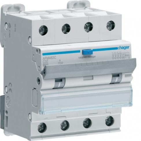Дифференциальный автоматический выключатель 4P 6kA C-32A 300mA A, Hager, AFM482C