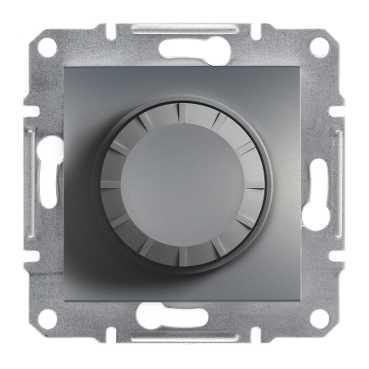 Механизм, светорегулятор, 600 Вт, цвет сталь, Asfora, Schneider Electric