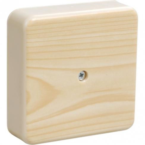Коробка КМ41216-04 распаечная для о/п 75х75х28 сосна