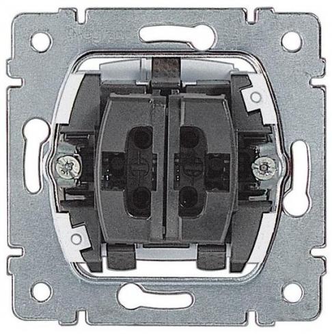 Механизм переключатель на 2 направл. двухклавишный 10А (проходной или лестничный) Legrand Galea Life 775808