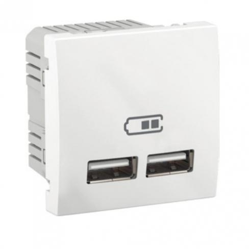 USB розетка 2.1A, цвет белый, Unica, Schneider Electric