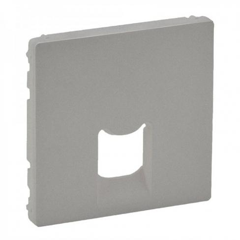 Лицевая панель для розетки компьютерной RJ45 кат, 5 UTP 1-ная, цвет алюминий, Legrand, Valena Life