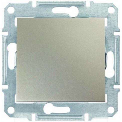 Механизм переключателя 1-клавишного, цвет алюминий, Sedna, Schneider Electric
