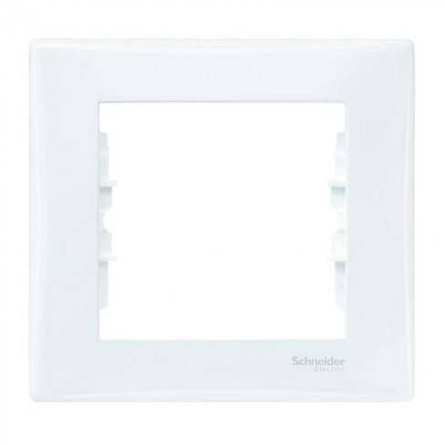 Рамка 1 пост, цвет Белый, Sedna, Schneider Electric