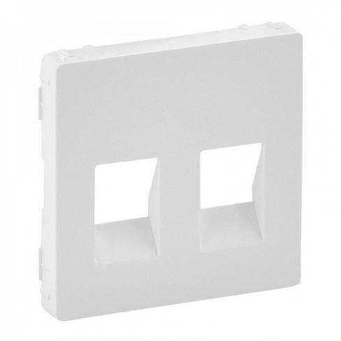 Лицевая панель для розетки акустической двойной , цвет белый, Legrand, Valena Life