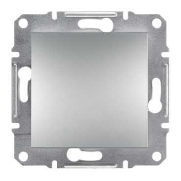 Механизм выключателя 1-клавишного, цвет алюминий, Asfora, Schneider Electric