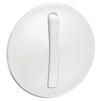 Лицевая панель для выключателя на 2 направления тонкий, цвет белый, Legrand Celiane