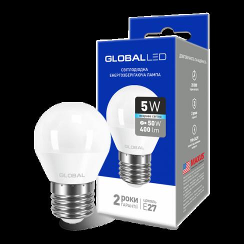 Декоративная лампа LED лампа GLOBAL G45 F 5W яркий свет 220V E27 AP (1-GBL-142) (NEW)
