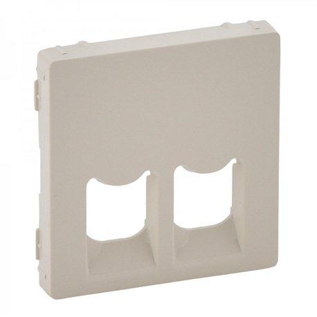 Лицевая панель для RJ11+RJ45, цвет слоновая кость, Legrand, Valena Life
