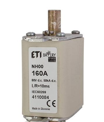 Предохранитель NH-000  Battery  40A 80V DC, 4110078, ETI