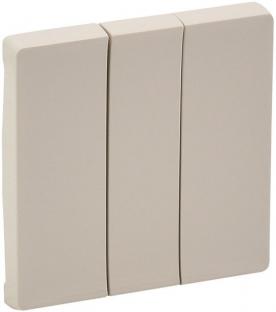 Лицевая панель для выключателя 3-клавишного, цвет слоновая кость, Legrand, Valena Life