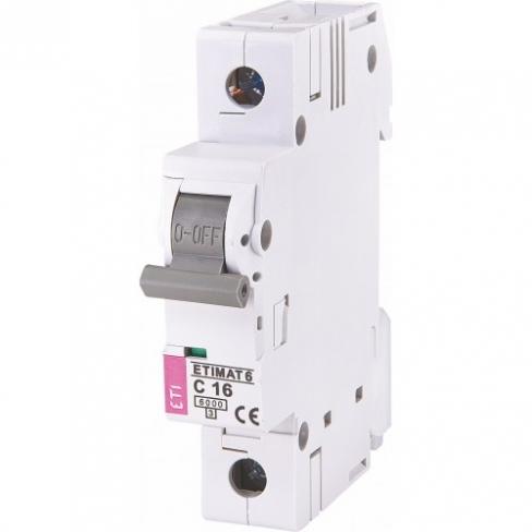 Автоматический выключатель ST-68 1p С 16А (4,5 kA), ETI