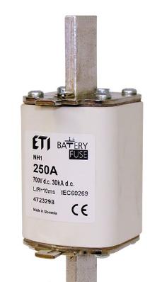 Предохранитель NH-1 Battery  224A 700V DC, 4723297, ETI