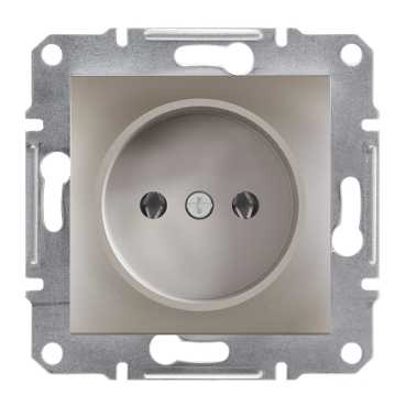 Механизм розетки без заземления, цвет бронза, Asfora, Schneider Electric