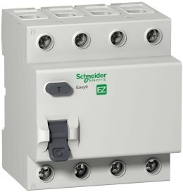 УЗО 4р 40А 30mA, тип AC, Easy9 Schneider Electric, EZ9R34440