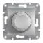 Механизм, светорегулятор, 600 Вт, цвет алюминий, Asfora, Schneider Electric