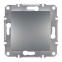 Механизм переключателя промежуточного 1-клавишного, цвет сталь, Asfora, Schneider Electric