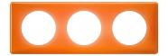 Рамка 3 поста, классика, цвет Оранжевый муар, Legrand Celiane