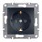 Механизм розетки 2К+З, 16А, немецкий стандарт, цвет бронза, Asfora, Schneider Electric