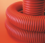 Труба гибкая гофрированная 200/172 мм, с протяжкой, красная (бухта 35 м), ДКС