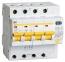 Дифференциальный автомат АД14 4Р 50 А 30 мА IEK, MAD10-4-050-C-030