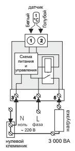 Схема подключения терморегулятора terneo b30