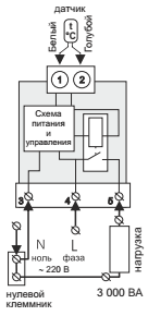 Схема подключения терморегулятора тернео sn